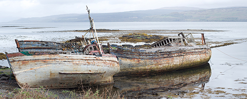 Old Rotting Boats