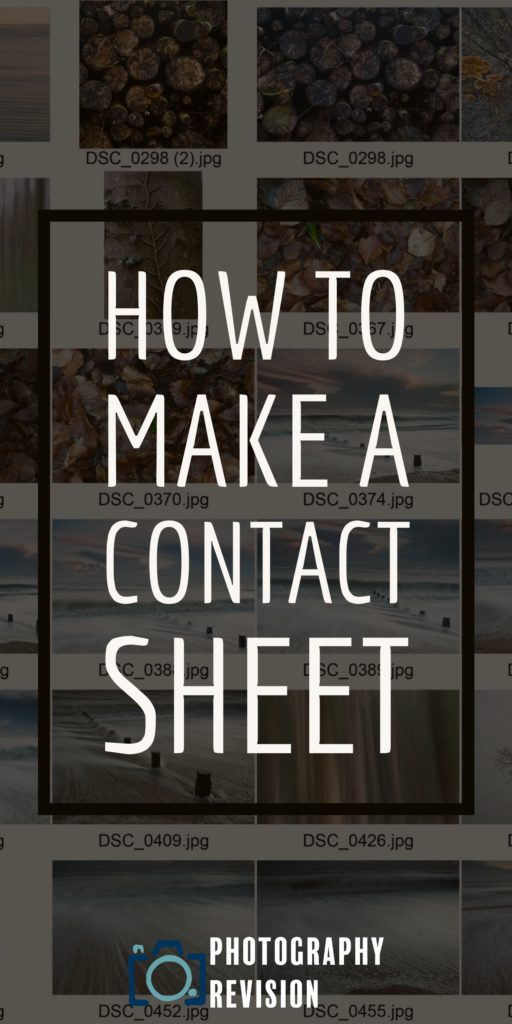 how to make a contact sheet